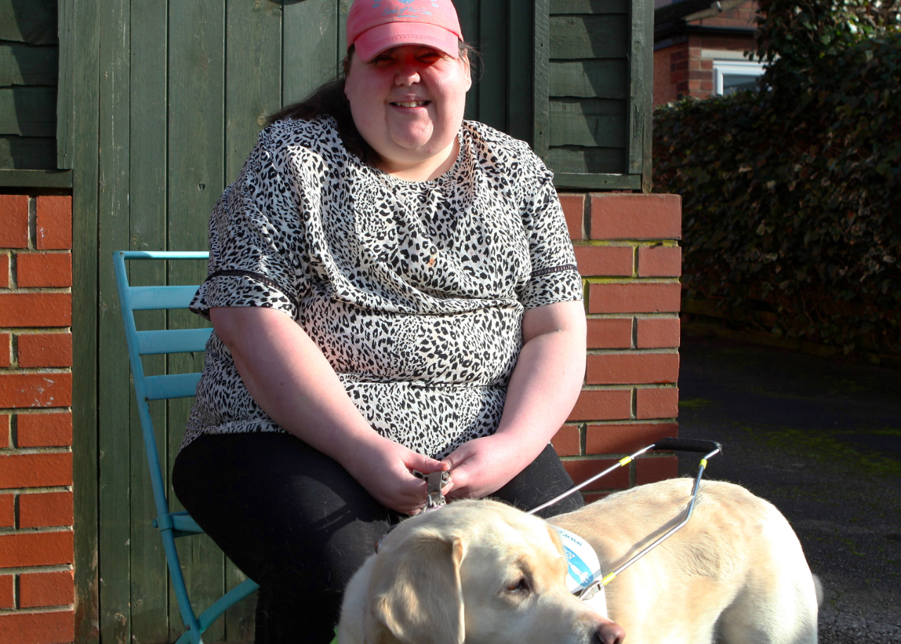 Michelle with her guide dog Hope