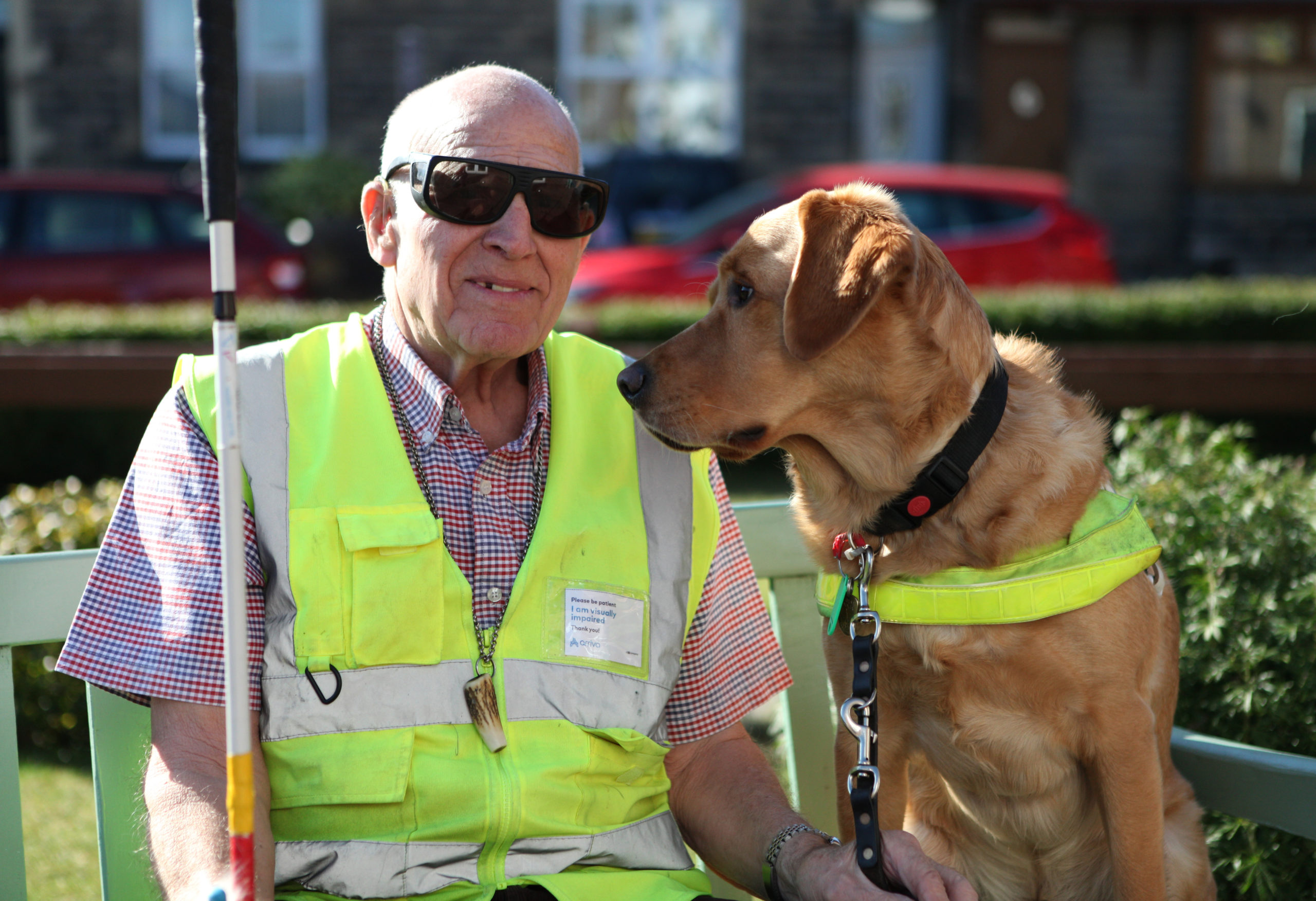 Doug with his guide dog Albert