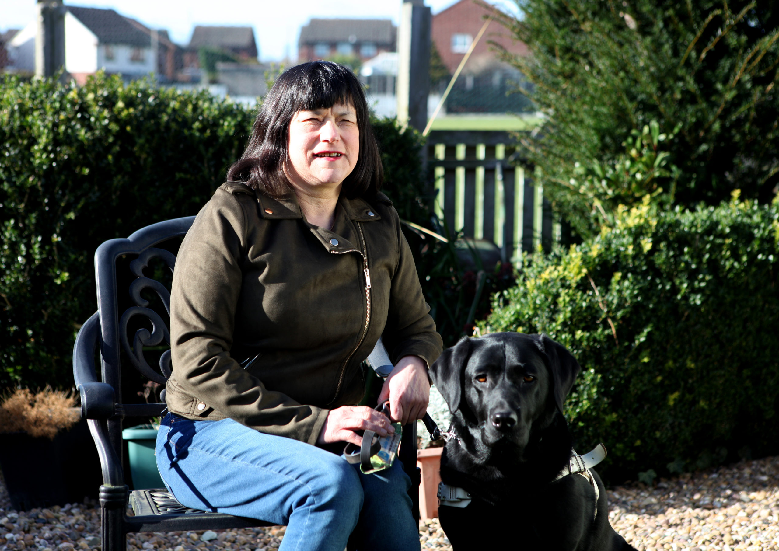 Joyce with guide dog Star